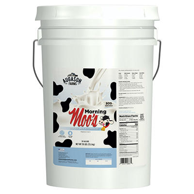 Augason Farms Morning Moo's Low Fat Milk Alternative - 30 lb. Pail