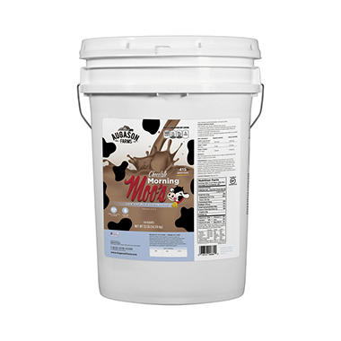 Augason Farms Chocolate Morning Moo's Low Fat Alternative - 37 lb. Pail