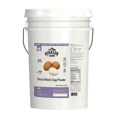 Augason Farms Dried Whole Eggs Pail - 18 lbs.