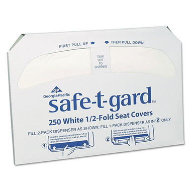 Georgia Pacific Safe T Gard Toilet Seat Covers 2 500 Ct