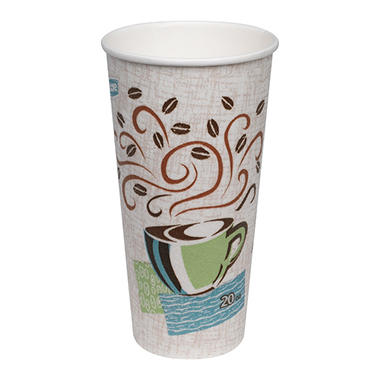 Dixie - PerfecTouch, Insulated Paper Hot Cup, 20 oz., Coffee Haze Design - 100 Cups