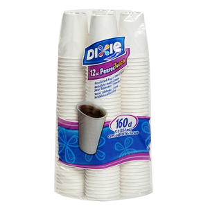 Dixie - PerfecTouch, Insulated Paper Hot Cup, 12 oz., White - 160 Cups