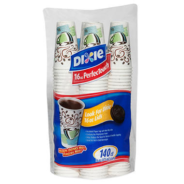 Dixie PerfecTouch Insulated Paper Cups, Coffee Haze, 16 oz. (140 ct.)