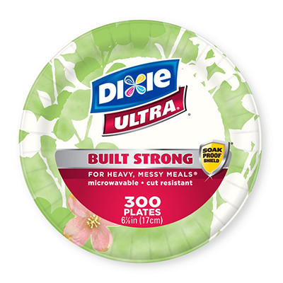 "Dixie Ultra Paper Plates, Heavyweight, 6 7/8"" (300 ct.)"