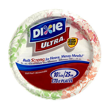 Dixie Ultra - Paper Plate, 10 1/16