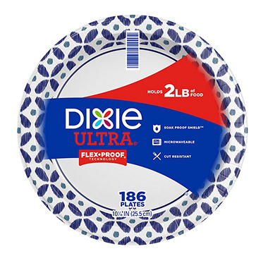 "Dixie Ultra - Paper Plate - 10 1/16"" - 186 ct."