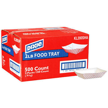Dixie® Food Trays - 2 lbs. - 500 ct.