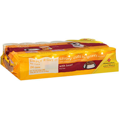 Simply Right Savory Cuts in Gravy with Beef Dog Food - 13.2 oz. - 24 ct.