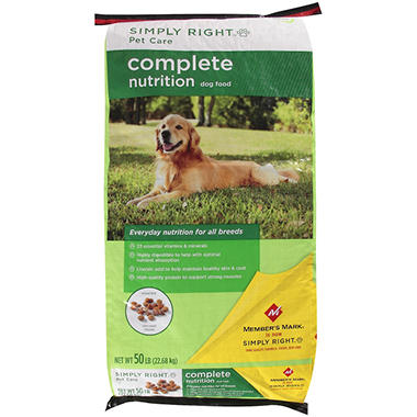 Simply Right Pet Care Complete Nutrition Dog Food - 50 lbs.
