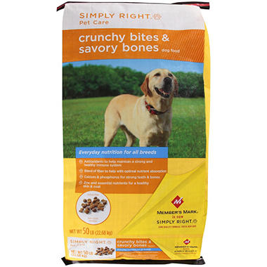 Simply Right Pet Care Crunchy Bites & Savory Bones Dog Food - 50 lbs.