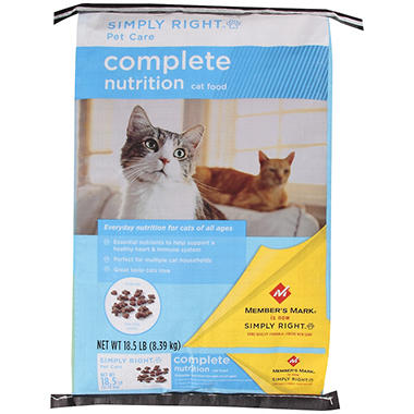 Simply Right? Pet Care Complete Nutrition Cat Food - 18.5 lb.
