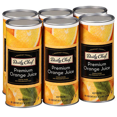 Daily Chef Premium Orange Juice (16 fl. oz., 6 ct.)