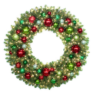 "60"" Prelit Traditional Holiday Wreath"
