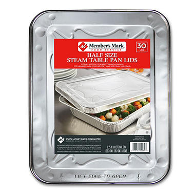 Bakers & Chefs Aluminum Steam Table Foil Lids - Half Size - 30 ct.