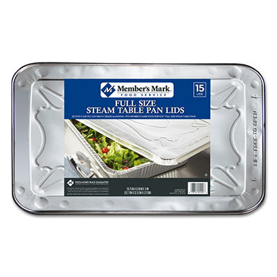 Bakers & Chefs Aluminum Steam Table Foil Lids - Full Size - 15 ct.