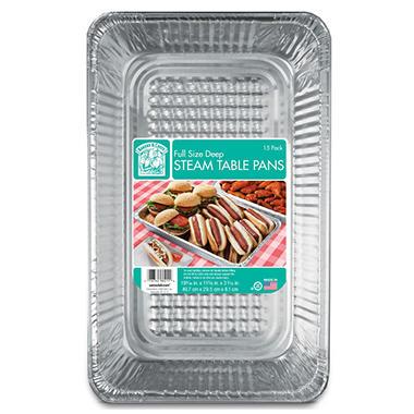 Bakers & Chefs Aluminum Foil Steam Table Pans - Full Size - 15 ct.