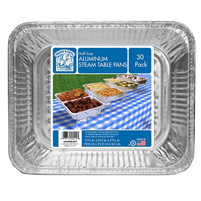 Bakers & Chefs Aluminum Foil Steam Table Pans - Half Size - 30 ct.