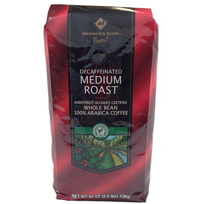 Member's Mark Decaffeinated Medium Roast Coffee - 2.5 lbs.