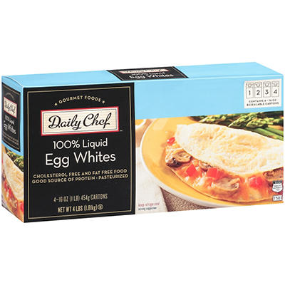 Daily Chef™ 100% Liquid Egg Whites - 16 oz. - 4 ct.