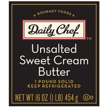 Daily Chef Unsalted Sweet Cream Butter - 1 lb. - 4 ct.