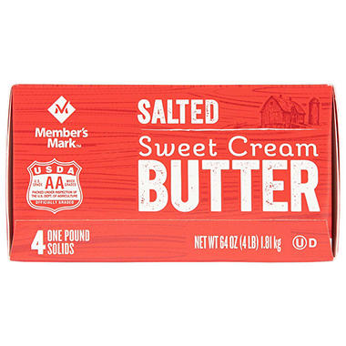 Daily Chef Salted Sweet Cream Butter (1 lb. solids, 4 ct.)