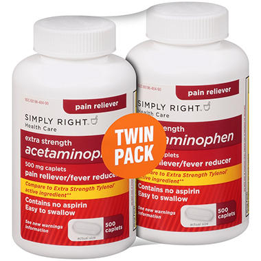 Simply Right™ Extra Strength Acetaminophen - 2/500 ct.
