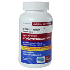 Simply Right Acetaminophen PM Caplets - 500 ct.