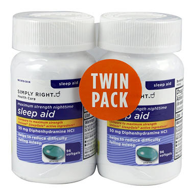 SIMPLY RIGHT SLEEP AID 2X96CT