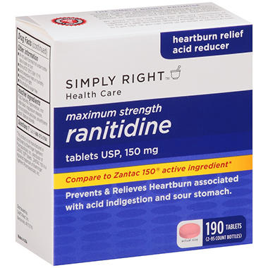 Simply Right? Maximum Strength Ranitidine Acid Reducer - 190 ct.