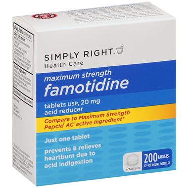 Simply Right? Maximum Strength Famotidine Acid Reducer - 200 ct.