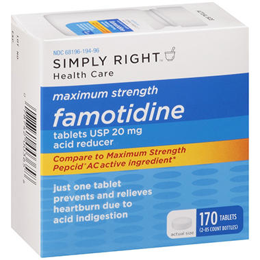 Simply Right? Maximum Strength Famotidine Acid Reducer - 2/85 ct.