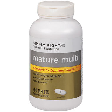 Simply Right™ Mature Multi Dietary Supplement - 400 ct.