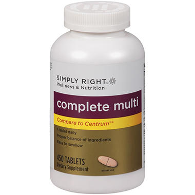 Simply Right™ Complete Multi Dietary Supplement - 450 ct.