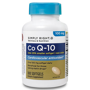 Simply Right CoQ10 100mg Softgels - 180 ct.