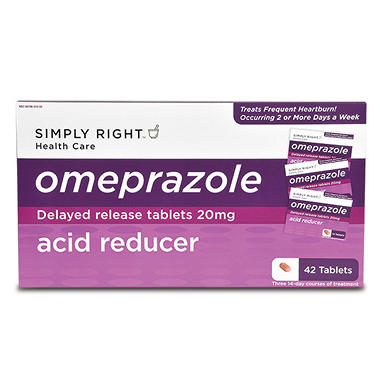 Simply Right? Omeprazole Acid Reducer - 42 ct.