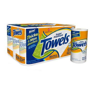 Member's Mark Premium Paper Towels - 12 rolls
