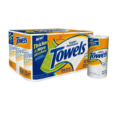 Member's Mark Super Premium Select and Tear Paper Towels - 12 Rolls