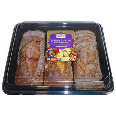 Artisan Fresh Gourmet Loaf Cakes Sliced Variety Pack - 39 oz.