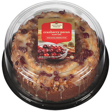 Artisan Fresh Cranberry Pecan Bundt Cake - 45 oz.
