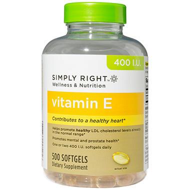 Simply Right Vitamin E Softgels - 500 ct.