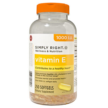 Simply Right Vitamin E Softgels - 250 ct.