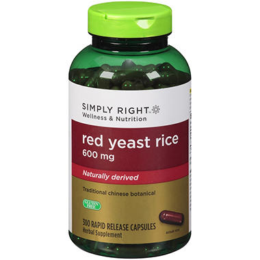 Simply Right? Red Yeast Rice Herbal Supplement - 300 ct.