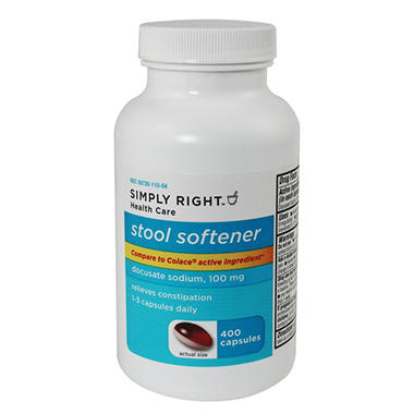 Simply Right Stool Softener - 400 ct.