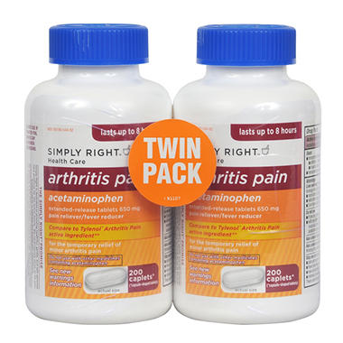Simply Right Arthritis Pain Capsules - 2 / 200 ct.