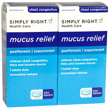 Simply Right Mucus Relief - 400 ct.