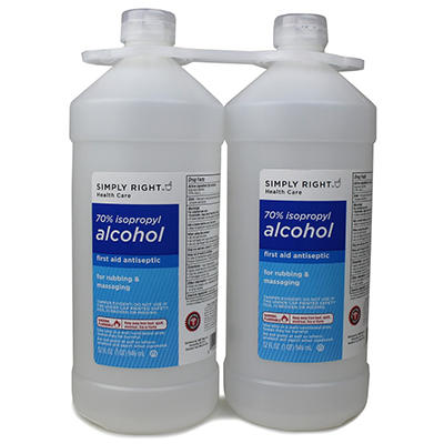 Simply Right 70% Isopropyl Alcohol - 32 oz. - 2 ct.