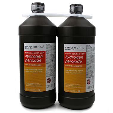 Simply Right Hydrogen Peroxide 3% - 64 fl. oz. - 2 pk.