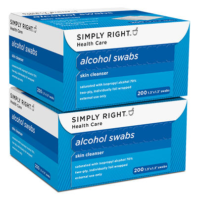 Simply Right Alcohol Swabs - 400 ct.