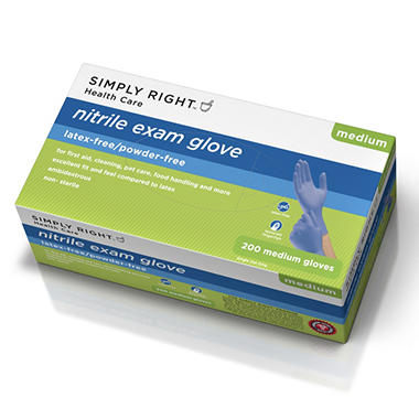 Simply Right Nitrile Gloves, Medium (200 ct.)