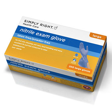 Simply Right Nitrile Gloves, Large (200 ct.)